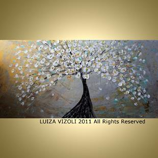 Art: Magnolia Tree Painting by Artist LUIZA VIZOLI