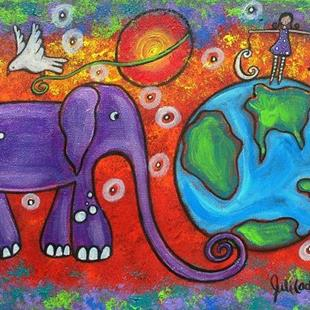 Art: Day and Night on Planet Earth by Artist Juli Cady Ryan
