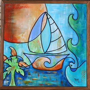 Art: Set Sail (SOLD) by Artist Melanie Douthit