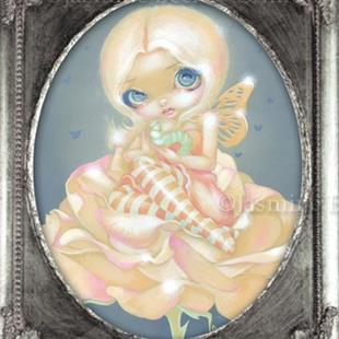 Art: The Sick Rose - ORIGINAL PAINTING - FRAMED VERSION by Artist Jasmine Ann Becket-Griffith