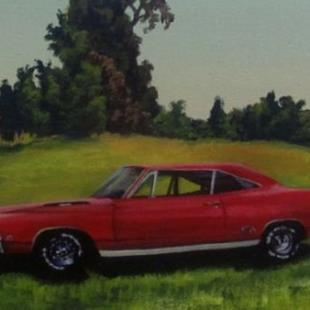 Art: 1968 Plymouth GTX by Artist Christine E. S. Code ~CES~