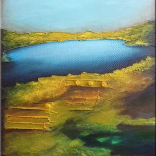 Art: ORIGINAL ABSTRACT LANDSCPAE PAINTING  -    SOLD by Artist Nataera
