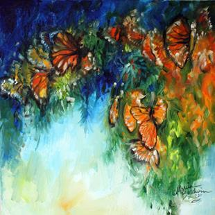 Art: MONARCH BUTTERFLY ABSTRACT by Artist Marcia Baldwin