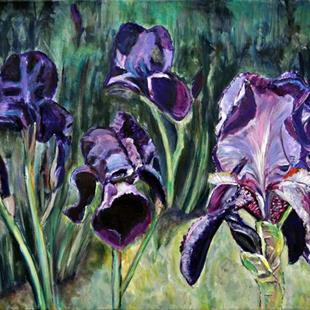 Art: Blooming Iris by Artist Heather Sims