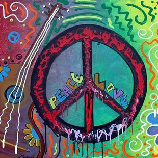 Art: Peace and Love by Artist Laura Barbosa