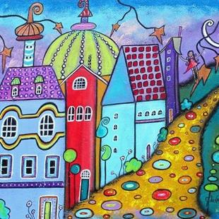 Art: Welcome To The Neighborhhood by Artist Juli Cady Ryan
