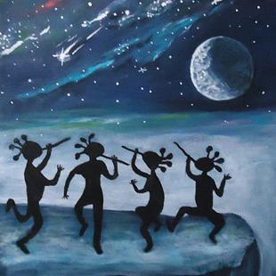 Art: Moon Dance by Artist Kathy Hatt