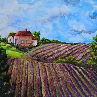 Art: Lavendar Fields by Artist Melanie Pruitt