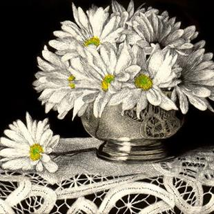 Art: Daisies by Artist Sandra Willard
