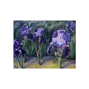 Art: Blooming Iris 2 by Artist Heather Sims