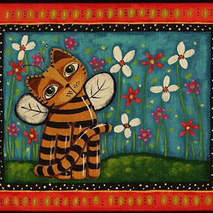 Art: Spring Buzz by Artist Cindy Bontempo (GOSHRIN)