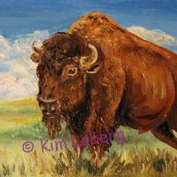 Art: Monarch of the Plains - SOLD by Artist Kim Loberg