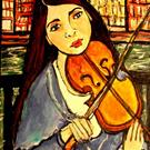 Art: Nibblefest Art Contest, ACEO:  'City Music' by Artist Patience