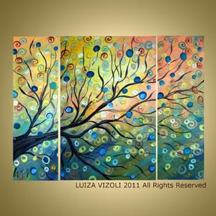 Art: Summer Tree by Artist LUIZA VIZOLI