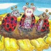 Art: Trio of Lady Bug Mice by Artist Kim Loberg