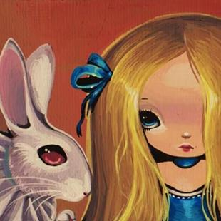 Art: Alice and Rabbit by Artist Nico Niemi