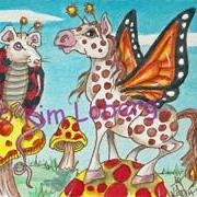 Art: Rat Lady Bug & Horse Butterfly-Its a Polka Dot World - SOLD by Artist Kim Loberg