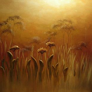 Art: Foggy Meadow by Artist Ewa Kienko Gawlik