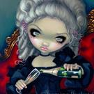 Art: Have Some Champagne ORIGINAL by Artist Jasmine Ann Becket-Griffith