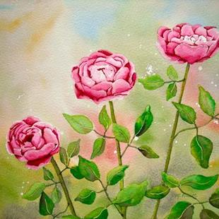 Art: Enchanted Roses by Artist Melanie Pruitt