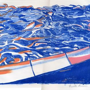 Art: California Pool V by Artist Muriel Areno