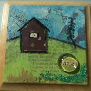 Art: Little Houses Series - Nest by Artist Aimee Marie Wheaton
