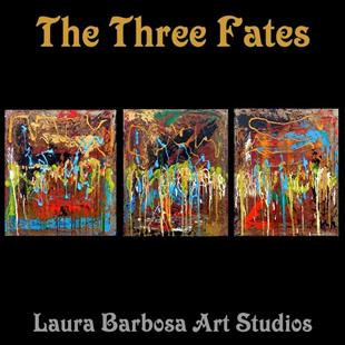 Art: The Three Fates by Artist Laura Barbosa