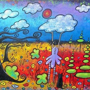 Art: Each Day I Push The Clouds Away by Artist Juli Cady Ryan