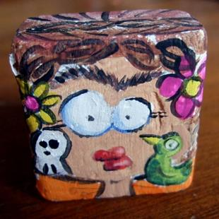 Art: Frida lil' Block heads (artist series) by Artist Noelle Hunt