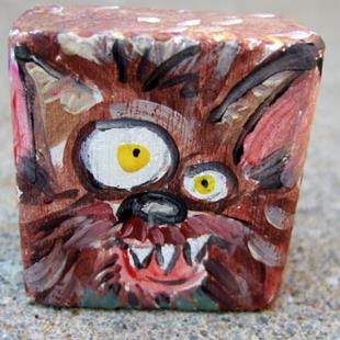 Art: lil' block heads Count Werewolf (classic monster series) by Artist Noelle Hunt