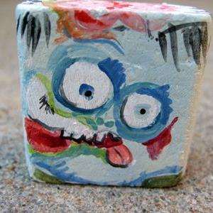 Art: lil' block heads Zombie (classic monster series) by Artist Noelle Hunt