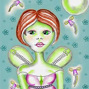 Art: Zipperfly Smuggling Fairy-Sold by Artist Sherry Key