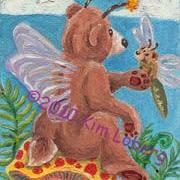 Art: 'Shroom Bear Fly & Friends #1 - SOLD by Artist Kim Loberg