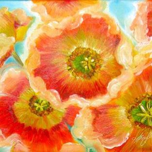 Art: Iceland Poppies SOLD by Artist Alma Lee