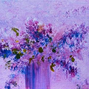 Art: Lilac Bouquet by Artist Claire Bull