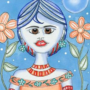 Art: Frida, The Early Years by Artist Sherry Key