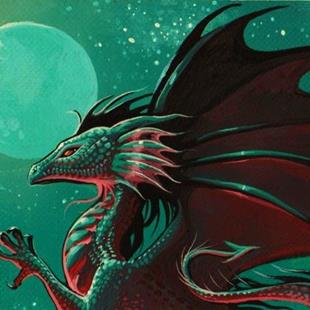 Art: Moon Dragon by Artist Nico Niemi