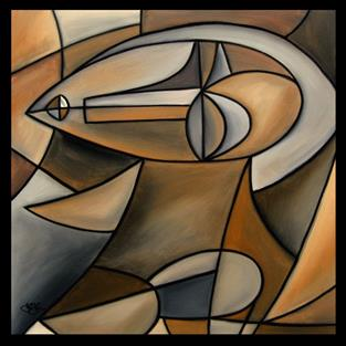 Art: Cubist 105 3030 Magical 2 by Artist Thomas C. Fedro