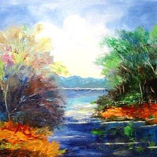 Art: islands in the stream - sold by Artist Ulrike 'Ricky' Martin
