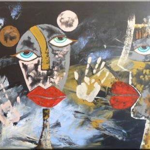 Art: FIGURATIVE ABSTRACT PAINTING - SOLD by Artist Nataera