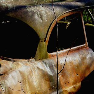 Art: Old Canyon Car by Artist Windi Rosson