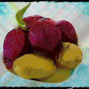 Art: Red Onions and Potatoes 2 by Artist Deanne Flouton