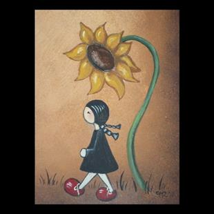 Art: Sunflower by Artist Charlene Murray Zatloukal