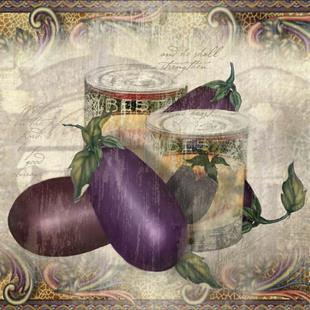Art: Cannery Row Eggplant by Artist Alma Lee