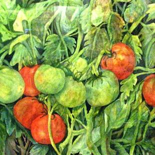 Art: Sun Kissed Tomatoes by Artist Ulrike 'Ricky' Martin