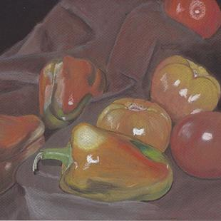 Art: Peppers Challenge by Artist Amy J Hipple