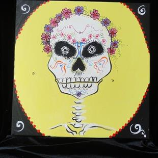 Art: Day of the Dead Skull #1 by Artist Noelle Hunt