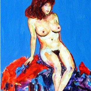 Art: Female Nude Seated by Artist Ulrike 'Ricky' Martin