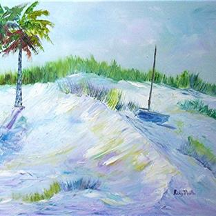 Art: Sand Sea and Dunes by Artist Ulrike 'Ricky' Martin