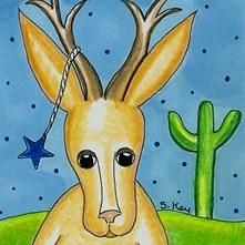 Art: Legendary Texas Jackalope-Sold by Artist Sherry Key